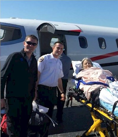 Patient Repatriated by Medical Jet from Florida to Rehab at Touchpoints at Farmington