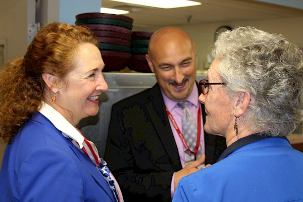 Congresswoman Elizabeth Esty, Commissioner Betsy Ritter, John Zazzaro, Touchpoints at Farmington