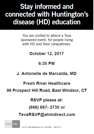 Fresh River Healthcare Center, Teva, Huntington's Disease
