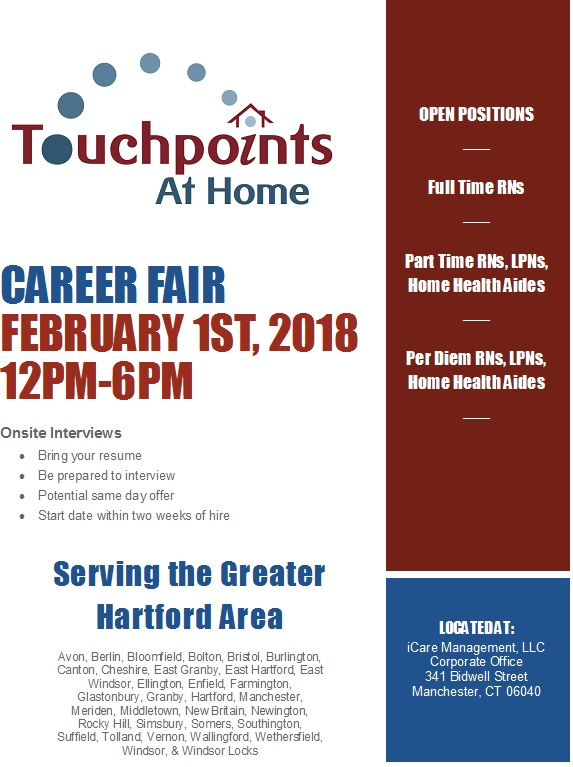 Touchpoints at Home Hosts Career Fair | iCare Management