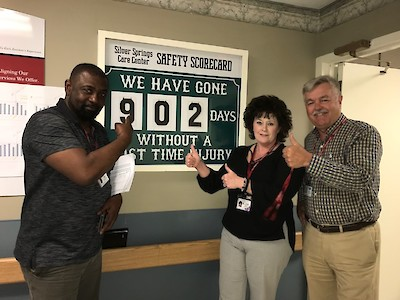 Silver Springs Care Center, iCare Health Network, Employee Safety Milestone, Meriden, CT